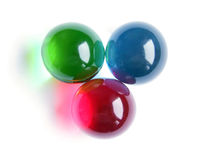 RGB bath balls Royalty Free Stock Photos