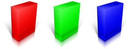 RGB blank box isolated on white background Stock Image