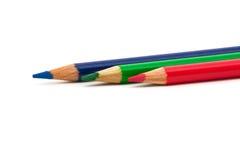 Rgb-Bleistifte Lizenzfreie Stockfotografie
