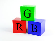 RGB box. The image can be used in the design Stock Photos
