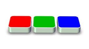 Rgb box. 3d rendering rgb boxes web color scheme concept vector illustration