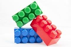 Rgb building blocks stock photography