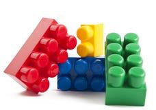 Rgb building blocks. Little pile of colorful building blocks stock photo