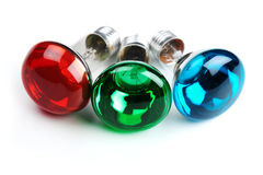 RGB bulbs Royalty Free Stock Image