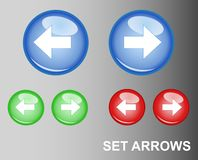 RGB Button Arrows. Vector EPS Royalty Free Stock Images