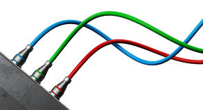 RGB cables Royalty Free Stock Photography