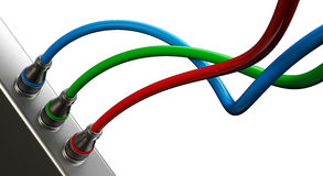 RGB cables Stock Photo