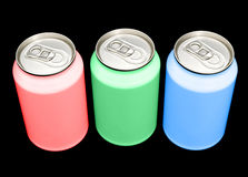RGB cans Stock Photos