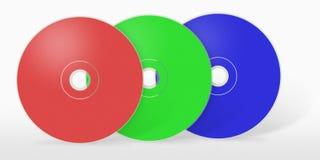 RGB CD drie Royalty-vrije Stock Afbeeldingen