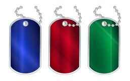 RGB Clour Dog Tags Stock Image