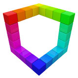 RGB & CMYK颜色多维数据集。 免版税图库摄影