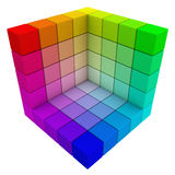 RGB & CMYK Color Cube. Include clipping path Royalty Free Stock Photo