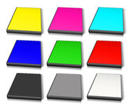 RGB and CMYK DVD Case Stock Image