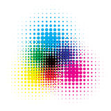 RGB and CMYK halftone vector illustration color Royalty Free Stock Photography