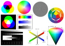 Rgb cmyk hsb lab Royalty Free Stock Image