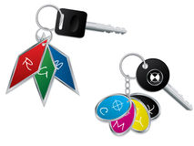 RGB and CMYK keyholders Royalty Free Stock Images