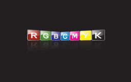 RGB & CMYK sign Stock Image