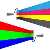 Rgb cmyk. Vector illustration of rgb cmyk stock illustration