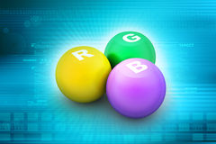 Rgb color balls Royalty Free Stock Photography