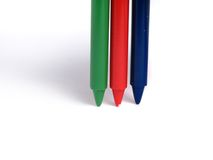 RGB color crayons Stock Photography