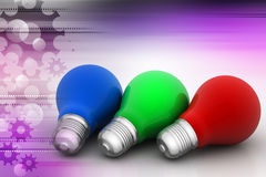 Rgb color lights Stock Photography