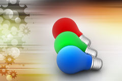 Rgb color lights Royalty Free Stock Photo