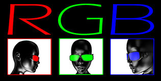 RGB color model Stock Photos
