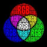 RGB color model. Word cloud royalty free illustration