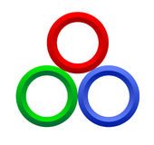 Rgb color ring Royalty Free Stock Photography