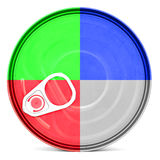 RGB color shiny food can top with pull-ring Stock Photo