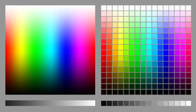 RGB color spectrums Stock Photos