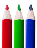 RGB colored pencils Royalty Free Stock Images
