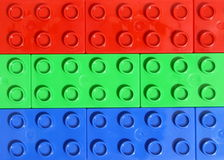 Rgb colors - Lego Royalty Free Stock Image