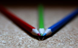 RGB colors. Red, green and blue are the colors of light Royalty Free Stock Images