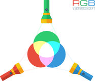 RGB colors vector concept Stock Photos
