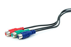 RGB (or component) video cable with RCA coonectors Royalty Free Stock Photography