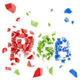 RGB concept as broken into tiny pieces word Royalty Free Stock Photo