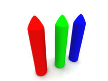 RGB - Crayons 1 Royalty Free Stock Photos