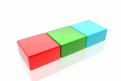 RGB cubes Stock Photos