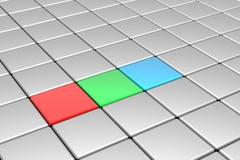 RGB cubes Stock Photos