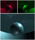 RGB Disco Ball In Room Vector Stock Images