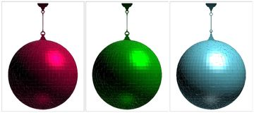 RGB Disco Ball On White Background Vector Royalty Free Stock Photography