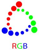 Rgb dots Royalty Free Stock Image