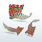 Rgb dotted arrows  illustration Stock Images