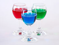 RGB drinks Royalty Free Stock Image