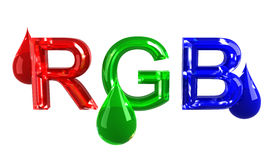 RGB drops. Isolated on white royalty free illustration
