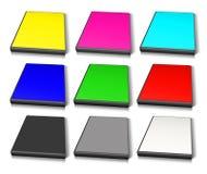 RGB e caso di DVD di CMYK Immagine Stock