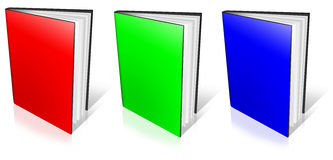 RGB empty book template Stock Photos