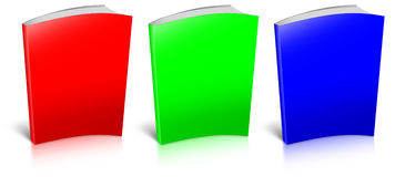 RGB empty book template Royalty Free Stock Photography