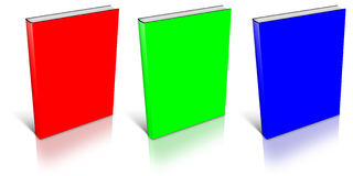 RGB empty book template. On white background royalty free illustration